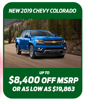 New 2019 Chevy ColoradoUp to $6,300 off MSRPOr as low as $20,246