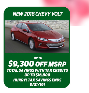 New 2018 Chevy Volt
