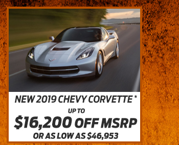 New 2019 Chevy Corvette*Up to $16,200 off MSRPOr As low as $46,953