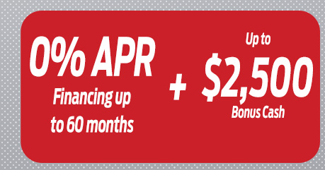 0% APR Financing up to 60 months