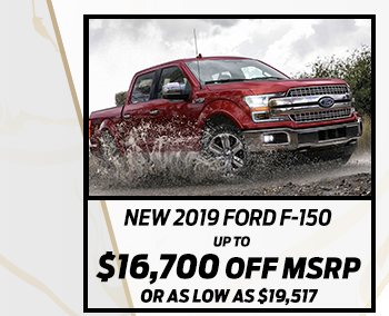 New 2019 Ford F-150*Up to $15,200 off MSRPOr As low as $19,998