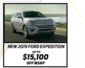 New 2019 Ford Expedition*  Up to $15,100 off MSRP