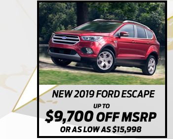 New 2019 Ford Escape*Up to $9,900 off MSRPOr As low as $16,344