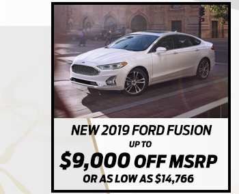 New 2019 Ford Fusion*Up to $9,700 off MSRPOr As low as $14,882
