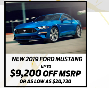 New 2019 Ford Mustang*Up to $9,200 off MSRPOr As low as $20,730