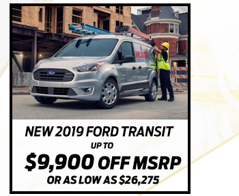New 2019 Ford Transit Connect*Up to $9,600 off MSRPOr As low as $20,623