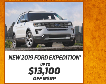 New 2019 Ford Expedition*Up to $13,100 off MSRP