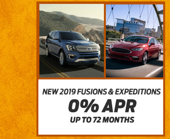 New 2019 Fusions & Expeditions0% APR up to 72 months